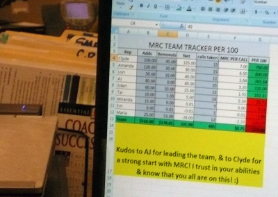 A manager's DIY team tracker