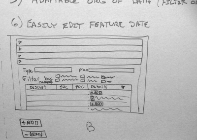 "Sketch for ""Add/Remove Features"" functionality"